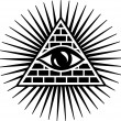 all seeing eye of god - eye of providence - symbol of omniscience — Stock Vector