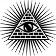 Stock Vector: All seeing eye of god - eye of providence - symbol of omniscience