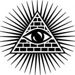 All seeing eye of god - eye of providence - symbol of omniscience — Stock Vector #21336899