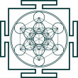 Metatrons cube - sacred geometry - flower of life — Stockvectorbeeld