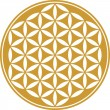 Flower of life - sacred geometry - symbol harmony and balance - Stok Vektör