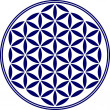 Постер, плакат: Flower of life sacred geometry symbol harmony and balance