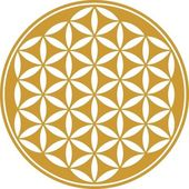 Flower of life - sacred geometry - symbol harmony and balance — Vector de stock