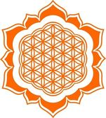 Flower of life - Lotus flower - symbol healing and harmony — Stock Vector