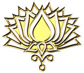 LOTUS FLOWER - symbol of enlightenment - buddhism — Stock Photo