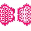 Stock Vector: Flower of life - Lotus flower - symbol healing and harmony