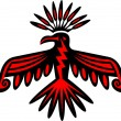 Sacred Thunderbird - native american symbol — Stock Vector