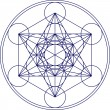Metatrons cube - sacred geometry - flower of life - Stok Vektör