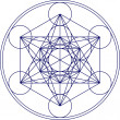 Metatrons cube - sacred geometry - flower of life - 