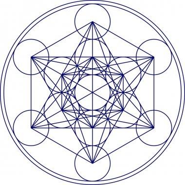 Metatrons cube - sacred geometry - flower of life