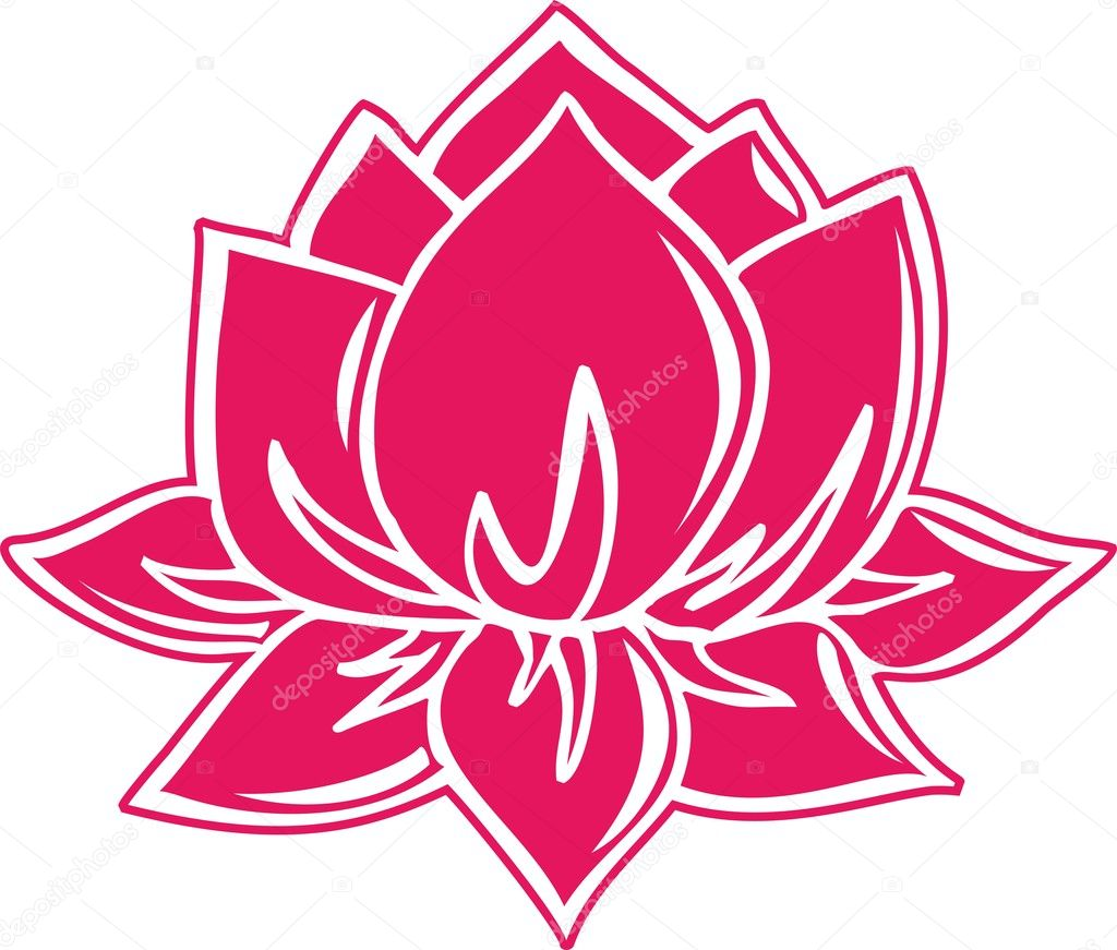 LOTUS FLOWER symbol of enlightenment buddhism — Stock Vector © lavalova