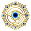Stock Photo: Nazar - protection amulet - eye of providence - all seeing eye