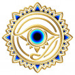 Nazar - protection amulet - eye of providence - all seeing eye — Stock Photo #22001621