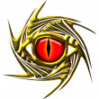 Dragon eye, dragoneye - golden - Stock Photo
