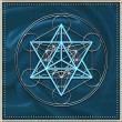 Merkaba - star tetrahedron - Metatrons cube - Stock Photo