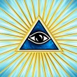 Eye Of Providence - All Seeing Eye Of God — Stock Photo #22002305