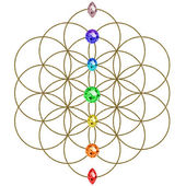 Flower of life - chakras - symbol harmony and balance — 图库照片