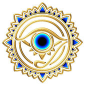 Nazar - protection amulet - eye of providence - all seeing eye — Stock Photo