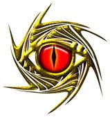 Dragon eye, dragoneye - golden — Stock Photo