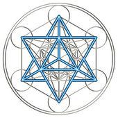 Merkaba-星级四面体-梅多维数据集 — 图库照片