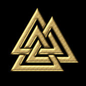 Wotans knot - Valknut - Odin - triangle, — Stock Photo