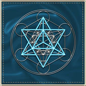 Merkaba - star tetrahedron - Metatrons cube — Photo