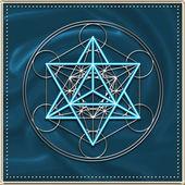 Merkaba - star tetrahedron - Metatrons cube — Stock Photo