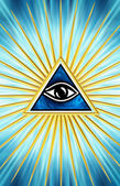 Eye Of Providence - All Seeing Eye Of God — Stock Photo