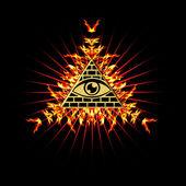 Eye Of Providence - All Seeing Eye Of God — Stock Photo
