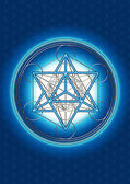 Merkaba - star tetrahedron - Metatrons cube — Stock Photo