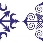 Chaos symbol, chaos stars — Stock Vector
