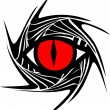 Dragon eye, dragoneye - Stock vektor