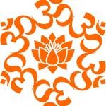 OM mandala - lotus flower — Stock Vector