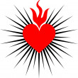 Royalty-Free Stock Vector Image: Sacred heart of jesus - rays