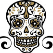 Stock Vector: Mexican skull