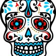 Mexican skull - Stock Vector