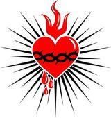 Kutsal yürek i̇sa - ışınları — Stok Vektör