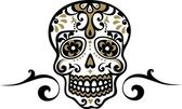 Mexican skull — Stock Vector