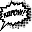 KAPOW! - Comic Speech Bubble — Stock Vector