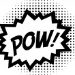 Stock Vector: POW! - Comic Speech Bubble