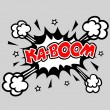 Stock Vector: KABOOM - Comic Speech Bubble