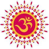 Om Sun Mandala — Stock Vector
