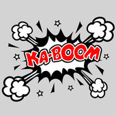 KABOOM - Comic Speech Bubble — Stock Vector