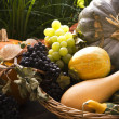 A basket of fruit and vegetables — Stock Photo