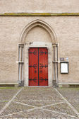 Entrance door of Saint Walburg church — Stock Photo
