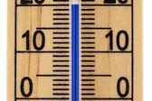Přímo zblízka rtuťový teploměr pokoj ve stupních Celsia — Stock fotografie