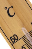 Oblique close up of thermometer in celsius scale — 图库照片