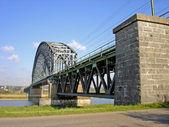 Most kolejowy nad rzeką Ren — Zdjęcie stockowe