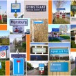 Places named after river Rhine — Stock Photo