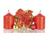 Cookie Christmas ribbon balls candles — Stockfoto